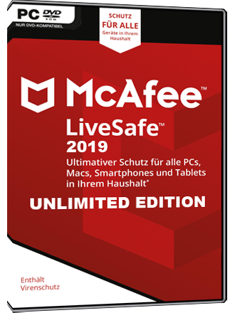 McAfee LiveSafe 2019 - Unlimited Edition