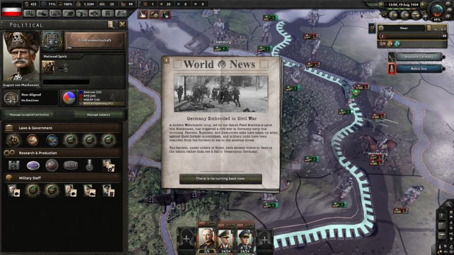Hearts of Iron IV - Waking the Tiger (DLC) Screenshot 3