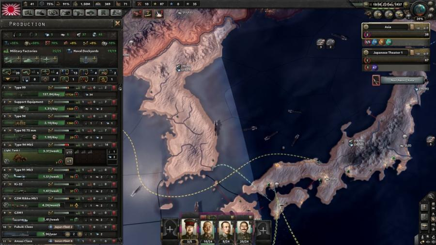 Hearts of Iron IV - Waking the Tiger (DLC) Screenshot 1
